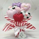 Букет из сердечек на День Валентина