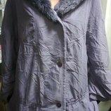 Симпатичная длинная куртка курточка на пышную даму , сост. отличное Бренд - VD One Ви-Ди Ван