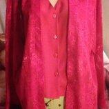 Шикарная блуза-двойка- обманка кардиган туника р.20 Бренд - Berkertex беркертекс