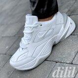 Кроссовки женские Nike Monarch кожаные белые на толстой подошве