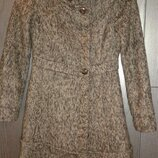 Стильное, теплое пальто меланж на синтепоне Mango , размер S.