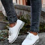 Туфли на шнуровке натуральная кожа