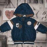 Стильная куртка с капюшоном для мальчика рр. 68