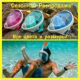 Дайвинг маска полнолицевая для подводного плавания и снорклинга,Маска цельно-лицевая обзорная