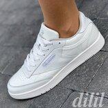 Женские кроссовки Restime белые модные, мягкие, удобные