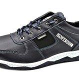 Демисезонные кроссовки мужские темно-синие КФ-7с