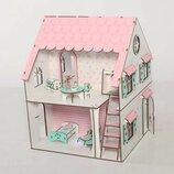 Кукольный домик NestWood 2х-сторонний для кукол Лол, 4 комнаты этаж 20см , без мебели 1100