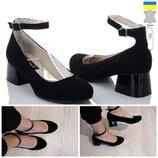 Кожаные заишевые женские туфли, р. 36 23,5см, новинка 2020г