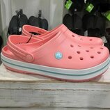 Сланцы Крокс крокбенд Оригинал CROCS - Crocband 11016 Melon/Ice Blue