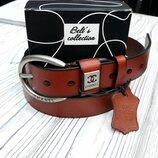 Модный кожаный ремень Гучи пр Турция арт 420