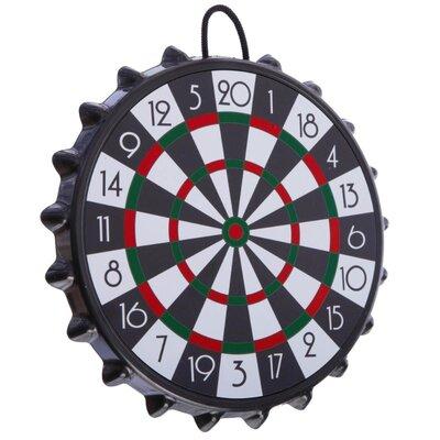 Мишень для игры в дартс магнитная с крышками Bottle Cup A003P диаметр 23см, 10 крышек