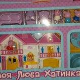 Большой домик «Моя люба хатинка» свинка Пеппа - звук, дом, мебель,