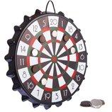 Мишень для игры в дартс магнитная с крышками Bottle Cup A002P диаметр 39см, 10 крышек