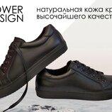 Мужские кожаные кеды кроссовки ботинки P.D. натуральная кожа