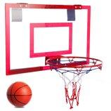 Щит баскетбольный с кольцом, сеткой и мячом Basketball Hoop 4630 щит 46х30,5см, кольцо 23см