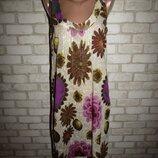 красивая натуральная туника платье р-р М-Л сост новой