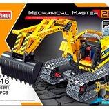 Конструктор QiHui6801 Аналог Lego Technic Стройтехника экскаватор и робот 342 детали
