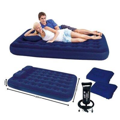 Надувной матрас BW 67374 с ручным насосом и 2 подушки в комплекте