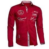 Хит Продаж Рубашка мужская с длинным рукавом. В наличии размер Хл Цвет красный