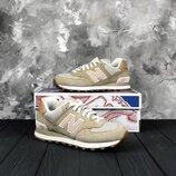 Бежевые оригинальные кроссовки new balance 574 WL574BCA