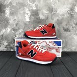 Красные оригинальные женские кроссовки new balance 574 WL574POR