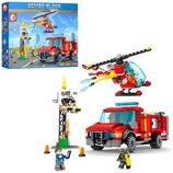 Конструктор Sembo SD603035 Аналог Lego Пожарный самолет 317 деталей.
