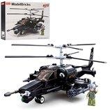 Конструктор SLUBAN M38-B0752 Военный вертолет, фигурка, 330дет