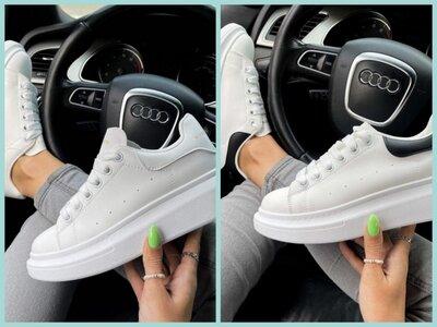 Шикарные женские кеды кроссовки на высокой подошве Alexander McQueen White в наличии 36-41 рр