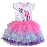 Нарядное детское платье с Единорогом . Платье детское