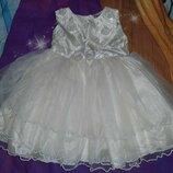 Нарядное детское платье 12-18 мес.