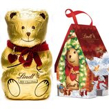 Шоколадный мишка в домике Lindt Teddy House