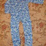 Пижама кигуруми слип человечек на 1,5-2 года рост 86-92 см