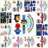 Проекционные детские часы Щенячий Патруль, Паук, Лол, Трансформер, Капитан Америка
