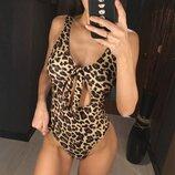 Цельный купальник леопард леопардовый с чашками