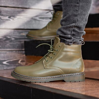 Ботинки зимние мужские South Warfare green
