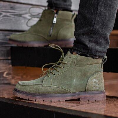 Ботинки зимние мужские South Flip dark green