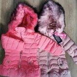 Куртка ,утеплённая ,для девочек Венгрия Размеры 1,2,3,4,5,6 лет
