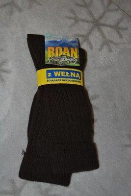 Новые тёплые шерстяные носки Roan Польша размер 42-43