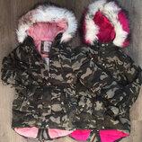 Куртка парка на меху для девочек Венгрия Размеры 8,10,14,16 лет