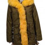 Куртка парка на меху для девочек Венгрия Размеры 110,120,150,160