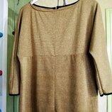 Золотая нарядная блуза рукав реглан люрекс zara