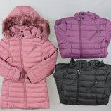 Куртка утепленная пальто косуха для девочек Венгрия Размеры 8 лет
