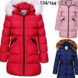 Куртка утепленная пальто для девочек Венгрия Размеры 92/98,128, 140/146
