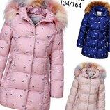 Куртка утепленная пальто для девочек Венгрия Размеры 152/158,164