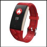 Смарт браслет T20 цветной дисплей- Красный Шагомер, уведомления о вызовах и смс, пульсометр, датчик