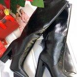 Женские кожаные сапоги YSL Yves Saint Laurent