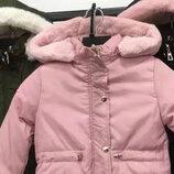Куртка парка утепленная для девочек Размеры 8,10 лет