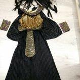 Красивый карнавальный костюм Клеопатры. Египетский наряд.