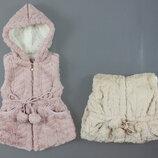 Меховой жилет для девочки Венгрия Размеры1,4 года