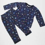 Nutmeg. Пижама с космосом 18-24 месяцев.